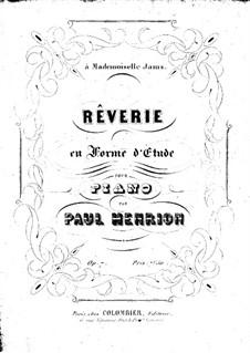Rêverie en forme d'etude, Op.7: Rêverie en forme d'etude by Paul Henrion