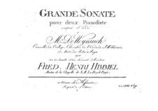 Grosse Sonate für zwei Klaviere, vierhändig: Klavierstimme II by Friedrich Himmel