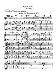 Vollständige Suite: Flötenstimmen III-IV by Gustav Holst