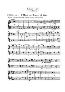 Vollständige Suite: Oboenstimmen I-II by Gustav Holst