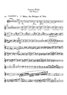 Vollständige Suite: Klarinettenstimme III by Gustav Holst