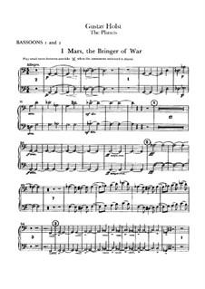 Vollständige Suite: Fagottstimmen I-II by Gustav Holst