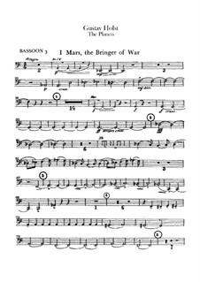 Vollständige Suite: Kontrafagott- und Fagott III Stimmen by Gustav Holst
