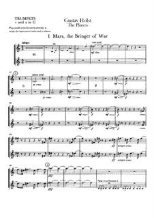 Vollständige Suite: Trompetenstimme I-II by Gustav Holst