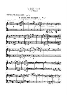 Vollständige Suite: Posaunestimmen I-II by Gustav Holst