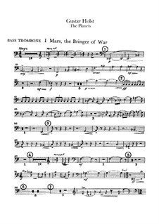 Vollständige Suite: Bassposaune- und Tubastimmen by Gustav Holst