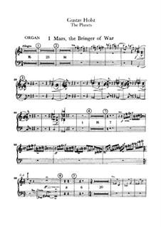 Vollständige Suite: Orgelstimme by Gustav Holst