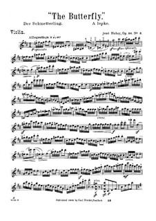 Blumenleben für Violine und Klavier, Op.30: Nr.3 Der Schmetterling – Solo Stimme by Jenö Hubay