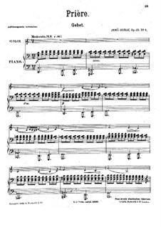 Zehn Stücke für Violine und Klavier, Op.49: Nr.4 Gebet by Jenö Hubay