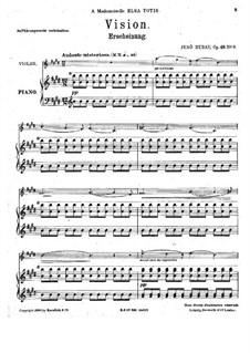 Zehn Stücke für Violine und Klavier, Op.49: Nr.6 Erscheinung by Jenö Hubay