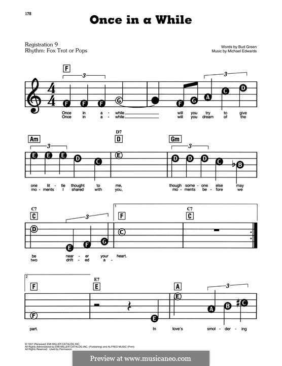 Once in a While: Für Klavier, leicht by Michael Edwards