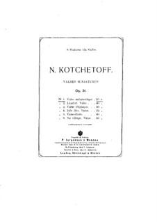 Valses miniatures, Op.31: Nr.1 Melancholischer Walzer by Nikolai Kotschetow