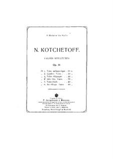 Valses miniatures, Op.31: No.3 Valse elegiaque by Nikolai Kotschetow