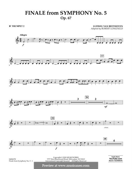 Teil IV: Bb Trumpet 2 part by Ludwig van Beethoven