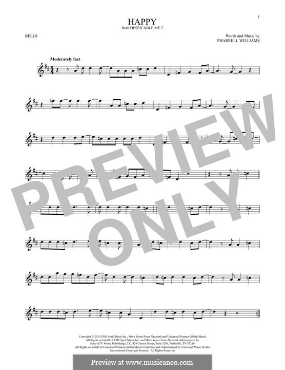 Happy (from Despicable Me 2): For glockenspiel by Pharrell Williams