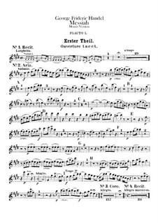 Vollständiger Oratorium: Flötenstimmen by Georg Friedrich Händel