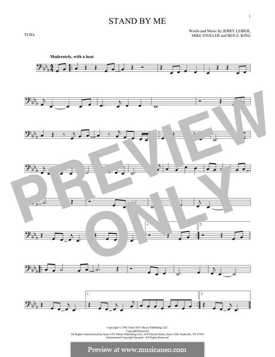 Stand By Me: For tuba by Ben E. King, Jerry Leiber, Mike Stoller