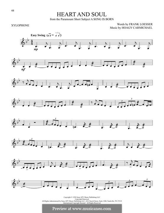 Heart and Soul: Xylophone by Hoagy Carmichael