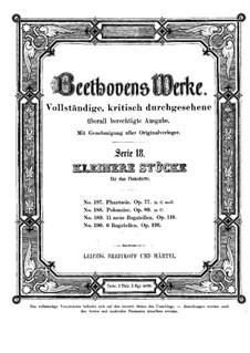 Fantasie, Op.77: Für Klavier by Ludwig van Beethoven