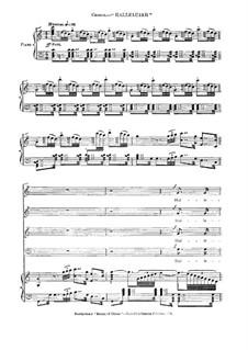Christus am Ölberge, Op.85: Halleluja, für Chor und Klavier by Ludwig van Beethoven
