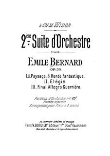 Suite für Orchester Nr.2, Op.38: Teil I by Émile Bernard