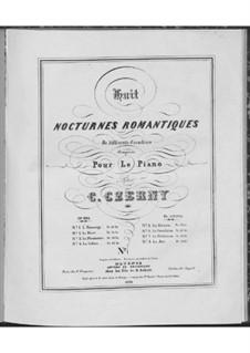 Huit nocturnes romantiques de différents caractères, Op.604: Nr.1 Die Huldigung by Carl Czerny