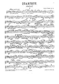 Streichquartett Nr.1 in E-Dur, Op.58: Stimmen by Robert Fuchs