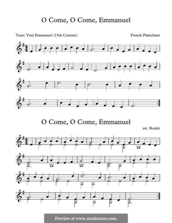 O Come, O Come, Emmanuel: For marimba by folklore