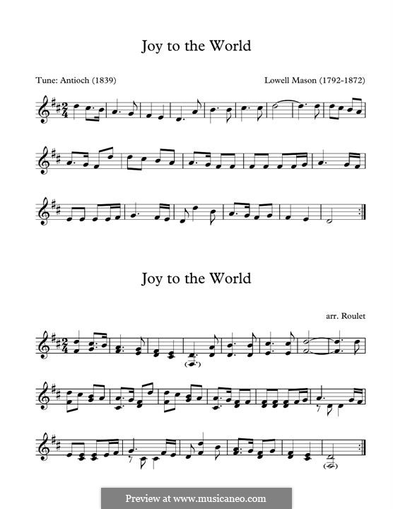 Joy to the World: For marimba by Lowell Mason