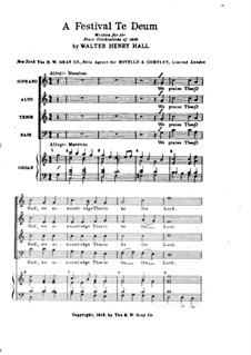 A Festival Te Deum: A Festival Te Deum by Walter Henry Hall