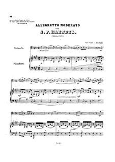Sonate für Violine und Cembalo in A-Dur , HWV 361 Op.1 No.3: Teil IV. Version für Cello und Klavier by Georg Friedrich Händel