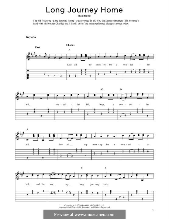 Long Journey Home: Für Gitarre by folklore
