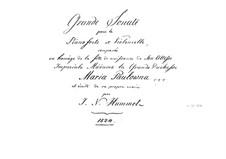 Sonate für Cello und Klavier in A-Dur, Op.104: Klavierstimme by Johann Nepomuk Hummel