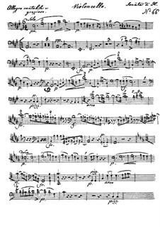Sonate für Cello und Klavier in A-Dur, Op.104: Solostimme by Johann Nepomuk Hummel