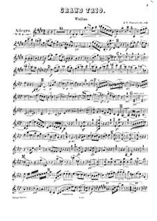 Klaviertrio Nr.6 in E-Dur, Op.83: Violinstimme by Johann Nepomuk Hummel