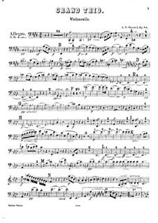 Klaviertrio Nr.6 in E-Dur, Op.83: Cellostimme by Johann Nepomuk Hummel