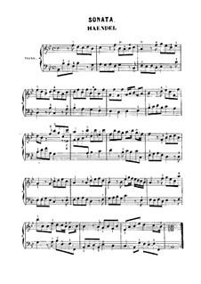 Sonatina in B-Dur, HWV 585: Für Klavier by Georg Friedrich Händel