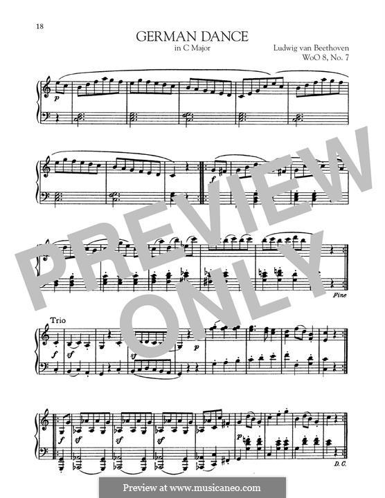 Zwölf deutsche Tänze, WoO 8: Dance No.7 by Ludwig van Beethoven