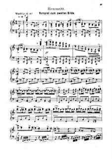 Hänsel und Gretel: Akt II. Vorspil, für Solisten, Chor und Klavier by Engelbert Humperdinck