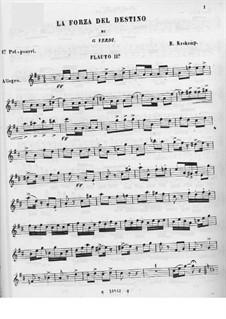 Zwei Potpourris über Themen aus 'Die Macht des Schicksals' von Verdi: Flötenstimme II by Emmanuele Krakamp