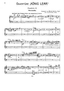 König Lear. Ouvertüre, H.53 Op.4: Für zwei Klaviere, achthändig – Stimmen für Klavier II by Hector Berlioz