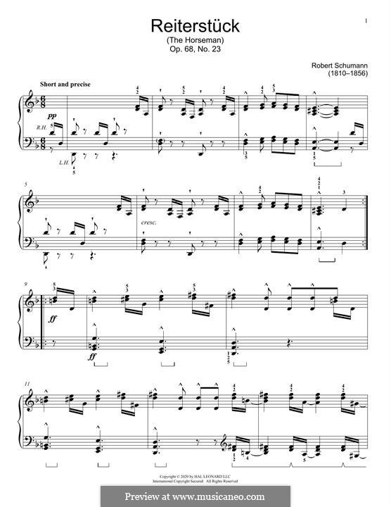 Nr.23 Reiterstück: Für Klavier by Robert Schumann