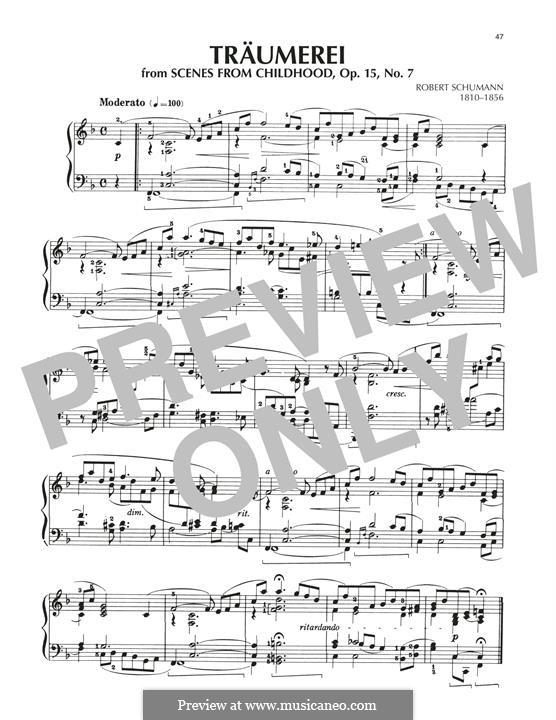 Nr.7 Träumerei, für Klavier: Für einen Interpreten by Robert Schumann