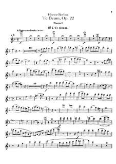 Te Deum, H.118 Op.22: Flötenstimme by Hector Berlioz