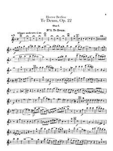 Te Deum, H.118 Op.22: Oboen- und Englischhornstimmen by Hector Berlioz