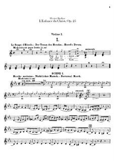 L'enfance du Christ (Die Kindheit Christi), H.130 Op.25: Violinstimme I by Hector Berlioz