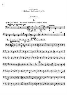 L'enfance du Christ (Die Kindheit Christi), H.130 Op.25: Kontrabassstimme by Hector Berlioz