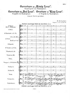 König Lear. Ouvertüre, H.53 Op.4: Vollpartitur by Hector Berlioz