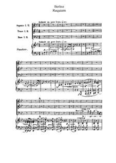 Grosse Totenmesse (oder Requiem), H.75 Op.5: Für Chor und Klavier by Hector Berlioz