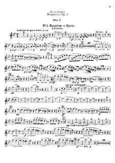 Grosse Totenmesse (oder Requiem), H.75 Op.5: Oboen- und Englischhornstimmen by Hector Berlioz